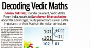 DNA Mumbai : Decoding Vedic Maths