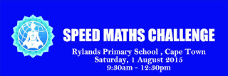 Speed Maths Challenge 2015 (Cape Town, 1 August 2015)
