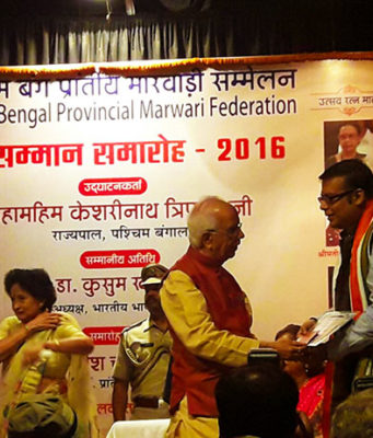 Proud moment to receive an Award for our work from the Governor of West Bengal Shri Kesarinath Tripathi.